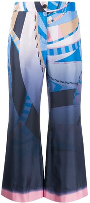Emilio Pucci Wally print cropped trousers