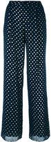 Emporio Armani dots print flared trousers - women - Cotton/Polyester/Viscose - 42