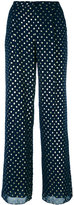 Emporio Armani dots print flared trousers - women - Polyester/Cotton/Viscose - 42