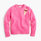 J.Crew Girls' sequin ice cream sweater