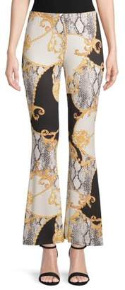 Eye Candy Printed Peached Flared Pants
