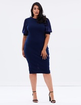 Body-Con Dress with Blouson Sleeves
