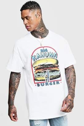 boohoo Big Kahuna Pulp Fiction License Oversized T-Shirt