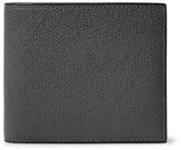 Valextra Pebble-grain Leather Billfold Wallet - Charcoal