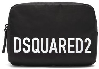 DSQUARED2 Logo-print Satin-shell Belt Bag - Black