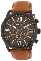 Fossil Men&s Chronograph Leather Watch