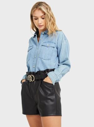 Miss Selfridge Blue Denim Shirt
