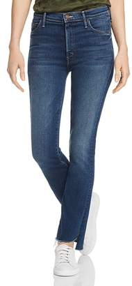 Mother The Insider Crop Step Fray Flared Jeans in Sweet And Sassy