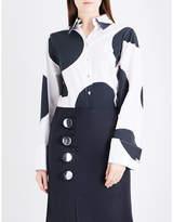 Marques Almeida Giant polka dot cotton-poplin shirt
