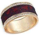 Thalia Sodi Gold-Tone Crystal Hinged Bangle Bracelet, Only at Macy's