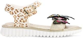 MonnaLisa Butterflies Faux Leather Sandals