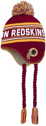 Redskins Outerstuff Youth Burgundy/Gold Washington Jacquard Tassel Knit Hat with Pom