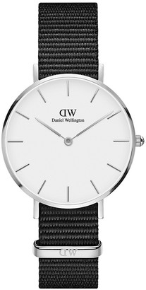 Daniel Wellington Petite Cornwall Stainless Steel Textile-Strap Watch