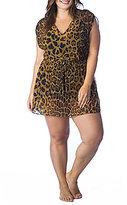 Polo Ralph Lauren Lauren by Ralph Lauren Plus Leopard Poolside Tunic Cover Up