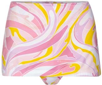 Emilio Pucci Beach Printed high-rise bikini bottoms