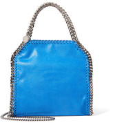 Stella McCartney The Falabella Mini Faux Brushed-leather Shoulder Bag - Blue