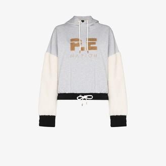 P.E Nation Drive Force organic cotton logo hoodie