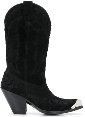 Paul Warmer Metallic Heel Suede Boots