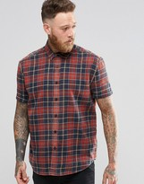 Asos Skater Fit Shirt With Bleached Check In Short Sleeve