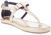 Tommy Hilfiger Girls' or Little Girls' Sandy Lock Charm Sandals