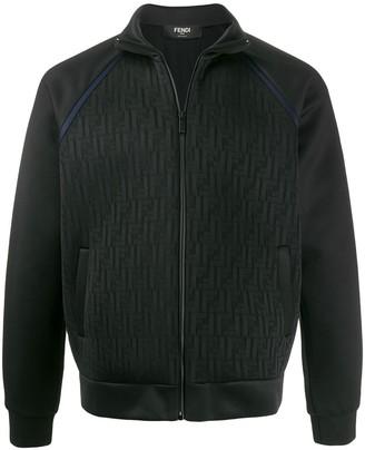 Fendi jacquard FF motif bomber jacket