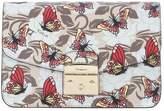 Furla Metropolis Shoulder Vanilla Leather Bag With Butterflies