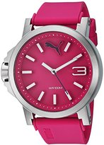 Puma Women's Quartz Stainless Steel and Polyurethane Watch, Color:Pink (Model: PU103462012)