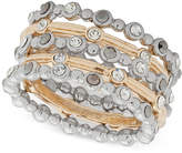 lonna & lilly Two-Tone 5-Pc. Set Crystal Rings, Created for Macy's