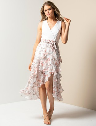 Ever New Joanna Petite Frill Two-in-One Maxi Dress