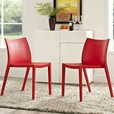 Modway Gallant Side Chair Color: Red