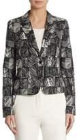 Max Mara Faglia Leaf Printed Jacket
