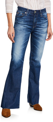 AG Jeans Quinne High-Rise Flare Jeans