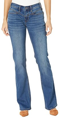 Rock and Roll Cowgirl Riding Bootcut with Bare Back in Medium Wash W7-6159 (Medium Wash) Women's Jeans