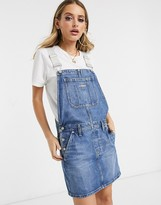 Calvin Klein Jeans dungaree dress with logo adjustable straps