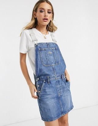 Calvin Klein Jeans dungaree dress with logo adjustable straps