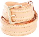 Louis Vuitton Vachetta Gold-Tone Belt