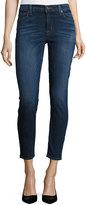 Hudson Nico Mid-Rise Ankle Skinny Jeans, Dark Blue