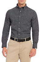 Daniel Cremieux Grandeur Nights Collection Long-Sleeve Graph Check Woven Shirt