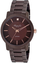 Kenneth Cole New York Watch, Men's Diamond Accent Brown Ion-Plated Stainless Steel Bracelet 44mm KC9287