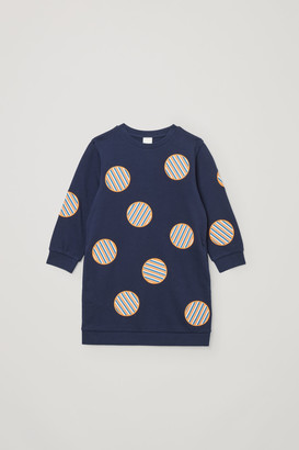 Cos Patch-Detail Sweatshirt Dress