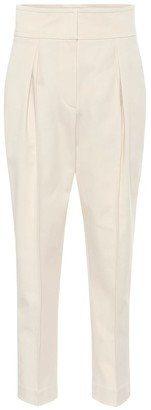 Brunello Cucinelli Cotton-blend tapered pants