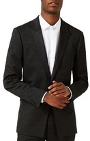 Topman Men's Skinny Fit Pin Dot Tuxedo Jacket