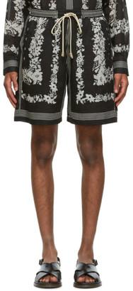 Nanushka Black Bandana Print Doxxi Shorts