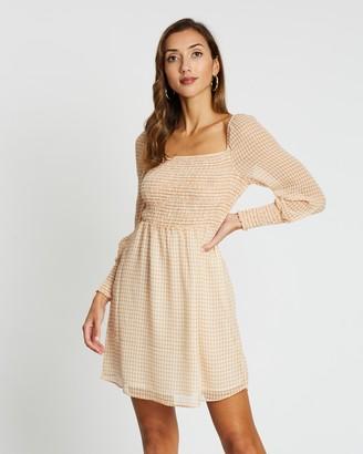 Only Elle Check Short Dress