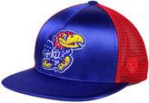 Top of the World Women's Kansas Jayhawks Big Faux-Satin Snapback Cap