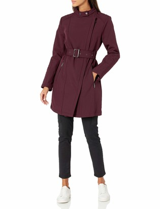Kenneth Cole New York Women's Belted Soft Shell Rain Jacket