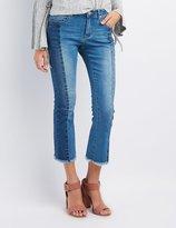 Charlotte Russe Refuge Colorblock Kick Flare Jeans