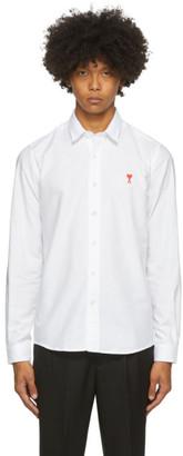 Ami Alexandre Mattiussi White Button-Down Ami De Coeur Shirt