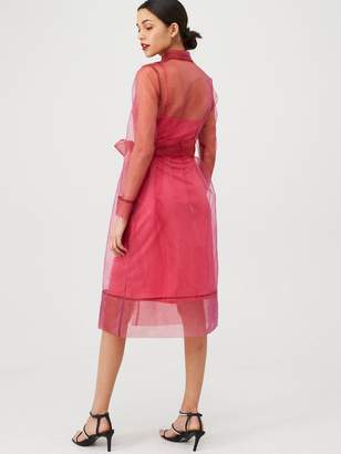 Very Organza Tie Waist Dress - Pink