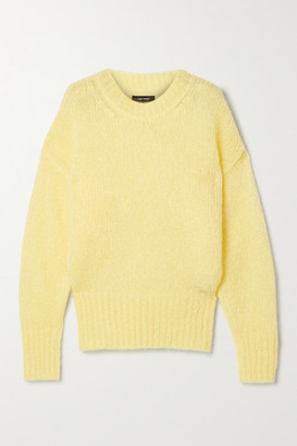 Isabel Marant Estelle Mohair-blend Sweater - Pastel yellow